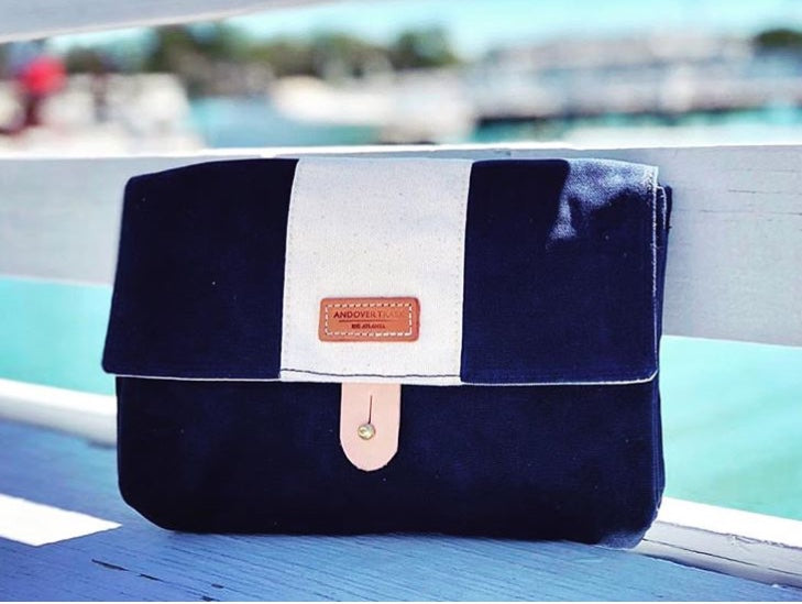 ATM - WAXED NAVY WITH NATURAL STRIPE - King George Shop