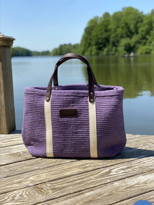 Hatteras - Eco Friendly Woven Cotton Tote - Purple Rain