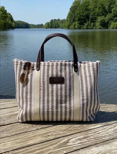 Hatteras - Eco Friendly Woven Cotton Tote - Taupe