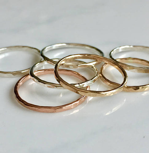 Stack-able Hammered Rings - King George Shop