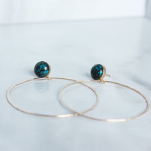 Stud and Hoop - Chrysocolla - King George Shop
