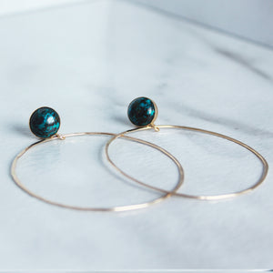 Stud and Hoop - Chrysoprase - King George Shop