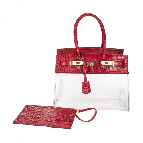 Tropicale 30 Croc Stadium Tote in Clear Ruby - King George Shop