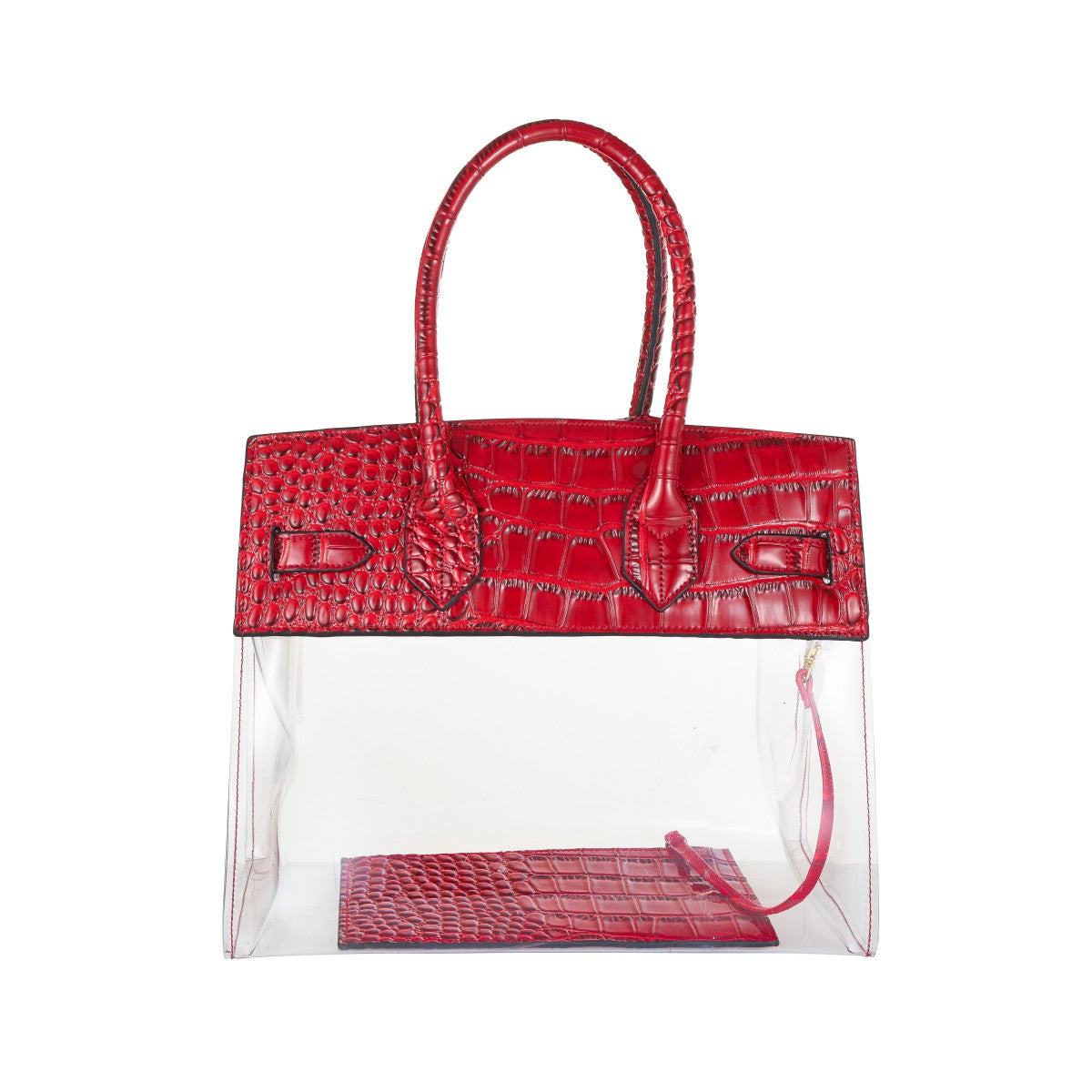 4919f5d3b9 ... Tropicale 30 Croc Stadium Tote in Clear Ruby - King George Shop ...