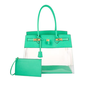 DE-VESI Tropicale 40 Large Translucent Tote (Bamboo Green) - King George Shop