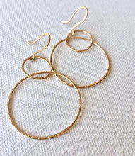 Double Circle Dangle Earrings - 14kt GF - King George Shop