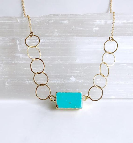 Rectangle Turquoise Necklace - King George Shop