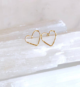 Petite Heart Studs - King George Shop
