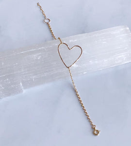 Hammered Heart Bracelet - King George Shop
