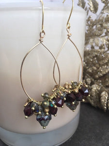 Beaded Cluster Earrings - King George Shop