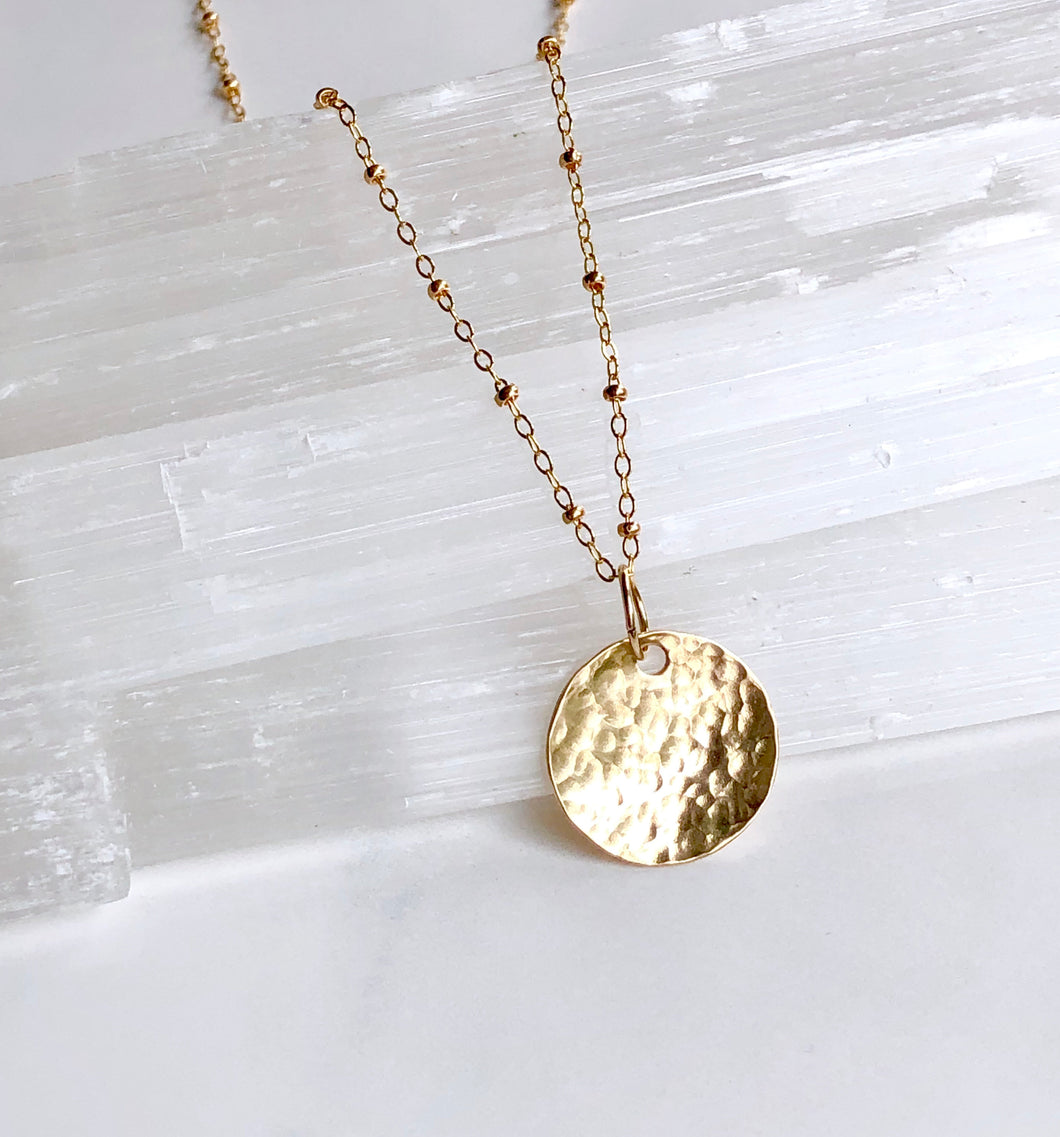 Gold Disk Necklace - King George Shop