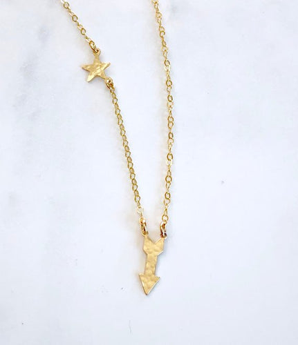 Arrow and Star Necklace - King George Shop