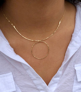 Hammered Circle Necklace - King George Shop