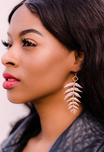 Delicate Leaf Earrings - King George Shop