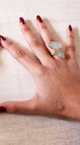 Double Druzy Ring - King George Shop