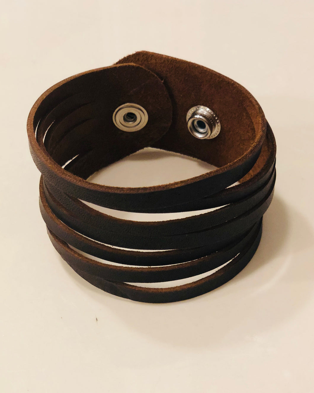 Leather Cuff With Slits - King George Shop