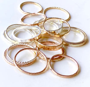 Scored Stack-able Rings - King George Shop