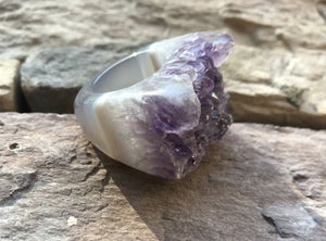 Amethyst Agate Ring - King George Shop