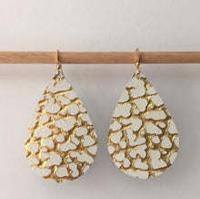 Leather Teardrop Earrings - King George Shop