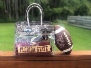 Tropicale 30 Croc Stadium Tote in Truffle Grey - King George Shop