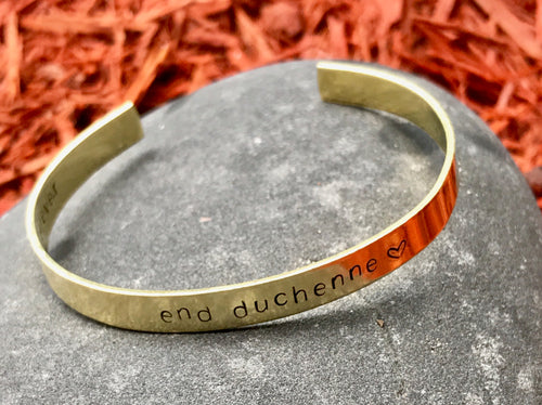END DUCHENNE Hand Stamped Cuff - King George Shop