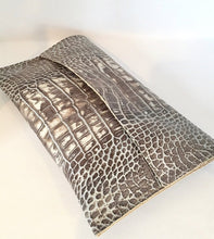Embossed Leather Clutch - King George Shop