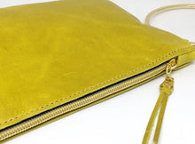 Green Leather Clutch With Gold Accent - King George Shop