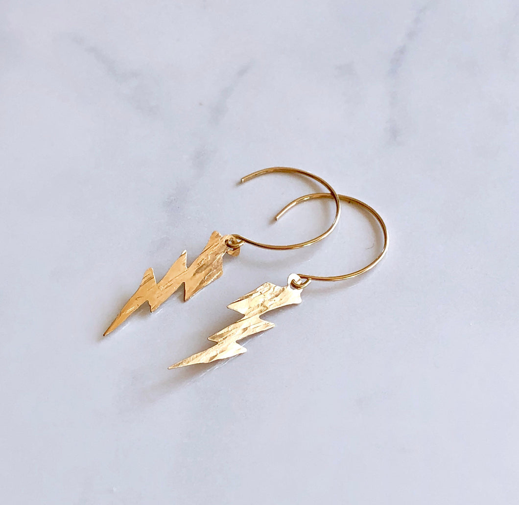 Lightning Bolt Dangle Earrings - King George Shop