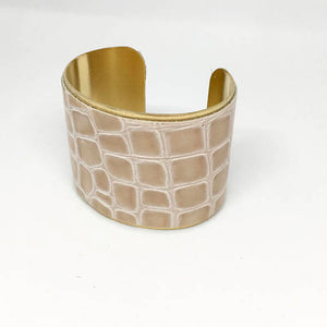 Leather and Metallic Cuff - King George Shop