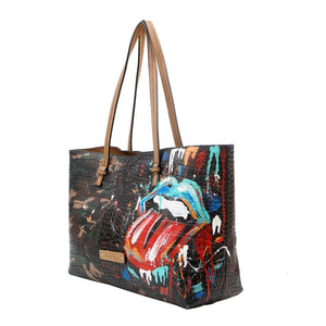 DE-VESI Rebellious Hand Painted Camouflage Tote - King George Shop