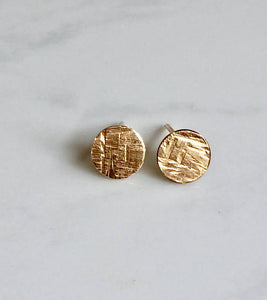 Tiny Textured Disk Studs - King George Shop