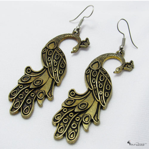 Peacock Earrings - Jewellery