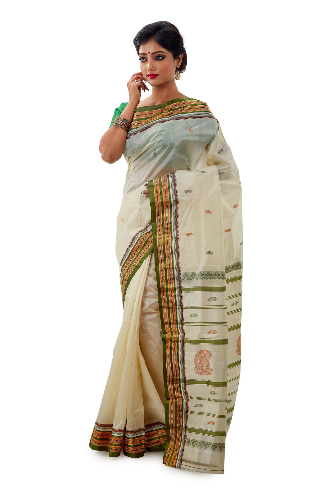 Murshidabad Pure Silk Garad Saree - Saree