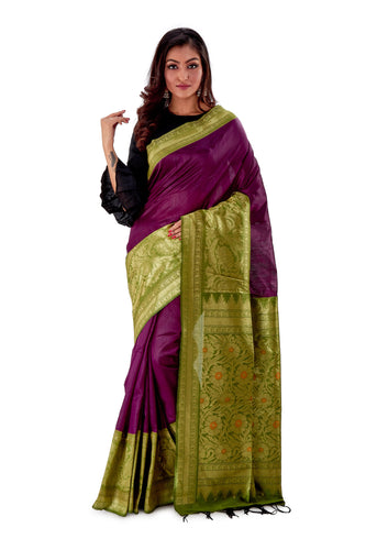 Violet-base-with-green-heavy-work-aanchal-resham-suti-SNCS1101-1