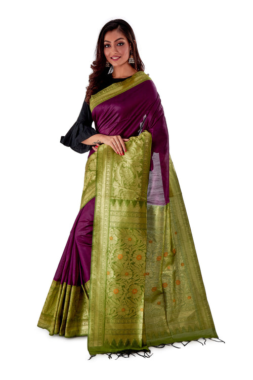 Violet-base-with-green-heavy-work-aanchal-resham-suti-SNCS1101-3