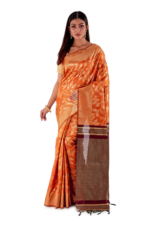 Otange-base-with-Brown-heavy-work-all-body-and-aanchal-resham-suti-SNCS1102-1