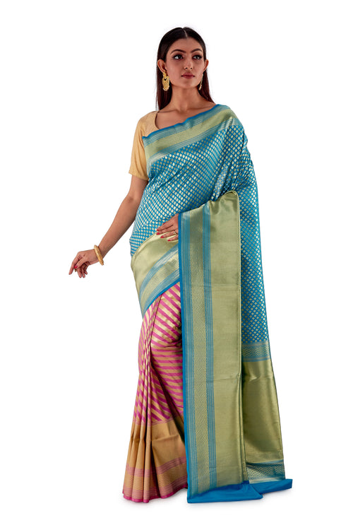 Sky-Blue-and-Pink-contrast-opara-silk-saree-SNCS1104-2