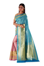 Sky-Blue-and-Pink-contrast-opara-silk-saree-SNCS1104-3
