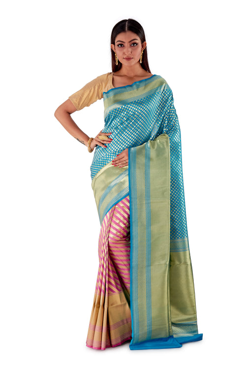 Sky-Blue-and-Pink-contrast-opara-silk-saree-SNCS1104-1