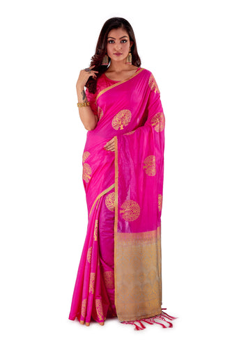Pink-and-Silver-Resham-suti-silk-saree-SNCS1105-1