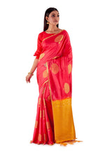 Red-and-Golden-Resham-suti-silk-saree-SNCS1106-1