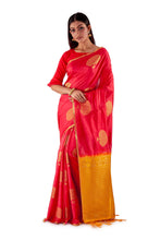 Red-and-Golden-Resham-suti-silk-saree-SNCS1106-2