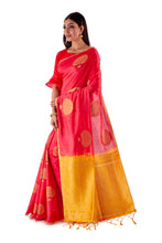 Red-and-Golden-Resham-suti-silk-saree-SNCS1106-3
