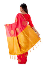 Red-and-Golden-Resham-suti-silk-saree-SNCS1106-4