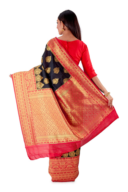 Black-and-Red-all-body-zari-work-saree-SNCS1113-4