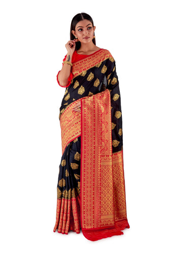 Black-and-Red-all-body-zari-work-saree-SNCS1113-1