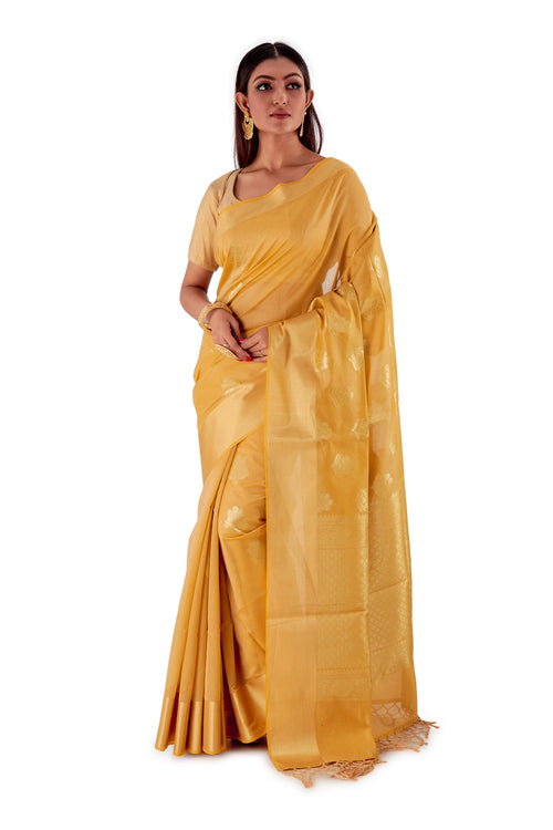Golden-base-with-Golden-zari-all-body-zari-work-saree-SNCS1117-2