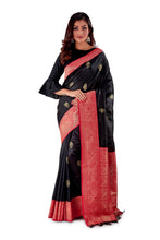 Black-base-with-Red-aanchal-and-Golden-zari-all-body-zari-work-saree-SNCS1120-1