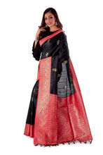 Black-base-with-Red-aanchal-and-Golden-zari-all-body-zari-work-saree-SNCS1120-3