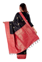 Black-base-with-Red-aanchal-and-Golden-zari-all-body-zari-work-saree-SNCS1120-4